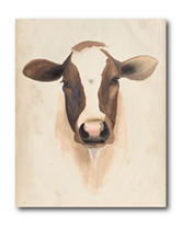 Courtside Market Watercolor Animal Study Canvas Wall Art