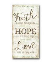 Courtside Market Faith Hope Love Canvas Wall Art