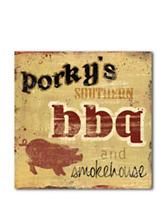 Courtside Market Porky's BBQ Canvas Wall Art