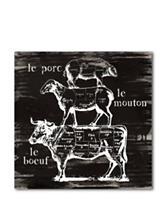 Courtside Market Side of Beef Canvas Wall Art