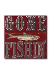 Courtside Market Gone Fishin Canvas Wall Art