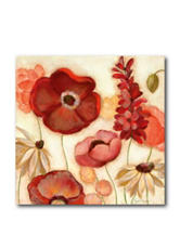 Courtside Market Red Flower ll Canvas Wall Art