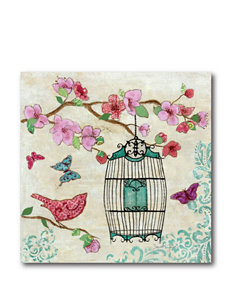 Courtside Market Birds & Butterfly l Canvas Wall Art