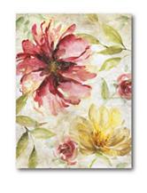 Courtside Market Pink & Yellow Flower ll Canvas Wall Art