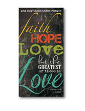 Courtside Market Faith Hope & Love Canvas Wall Art