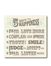 Courtside Market 5 Ways To Happiness Canvas Wall Art