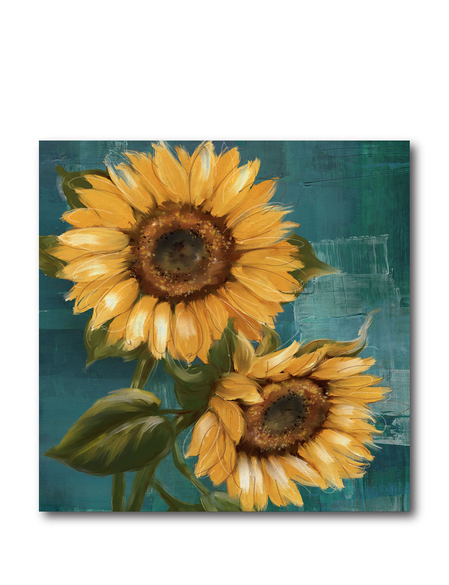 courtside market sunflower ll canvas wall art stage stores. Black Bedroom Furniture Sets. Home Design Ideas