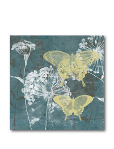Courtside Market Gray & Yellow Butterfly ll Canvas Wall Art