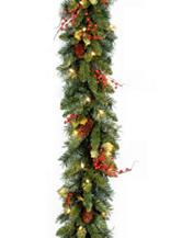 National Tree Company 9 ft. Classical Collection Garland with Clear Lights