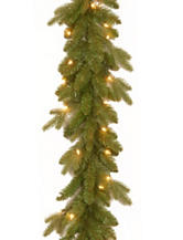 National Tree Company 9 ft. Avalon Spruce Garland with Clear Lights