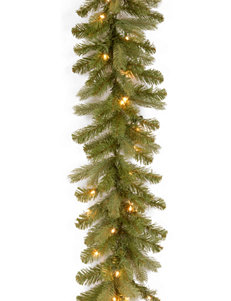 National Tree Company 9 ft. Downswept Douglas Garland with Clear Lights