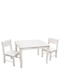 Guide Craft White Dining Room Sets Kitchen & Dining Furniture