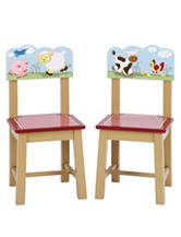 Guidecraft Farm Friends Set of 2 Extra Chairs