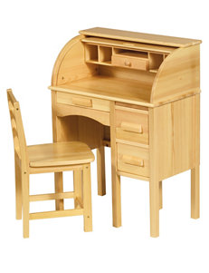 Guide Craft Light Oak Desks Home Office Furniture