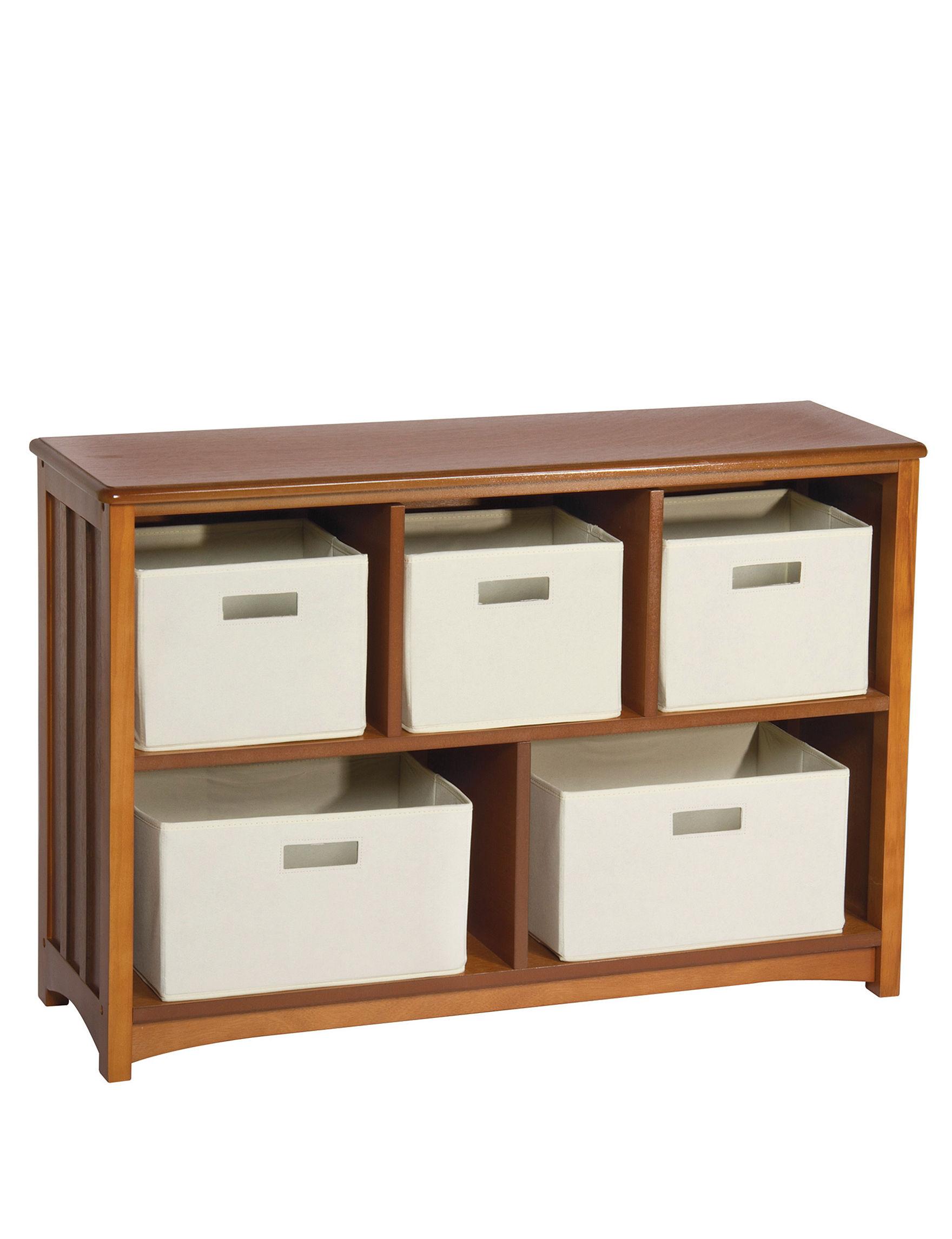 Guide Craft Light Oak Bookcases & Shelves Living Room Furniture