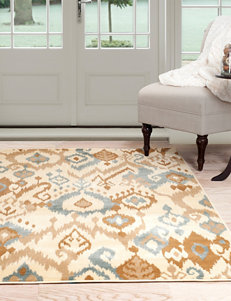 Lavish Home Cream / Navy Rugs