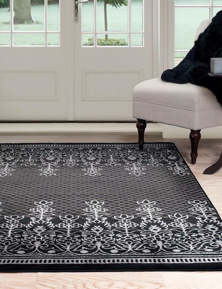 Lavish Home Black/Grey Rugs