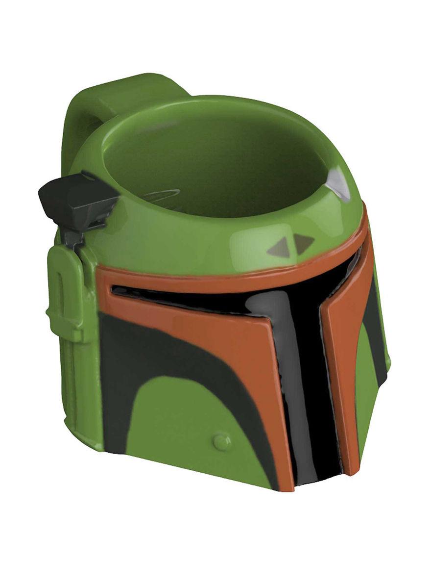 Zak Designs Green / Black Mugs Drinkware