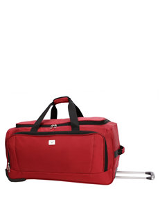 "Dockers 28"" Red Rolling Duffle Bag"
