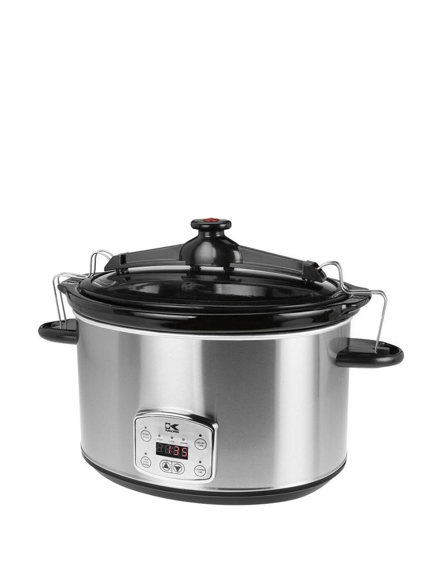 Kalorik Stainless Slow Cookers Kitchen Appliances