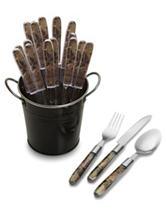 Mossy Oak 18-pc. Flatware Set With Black Pail