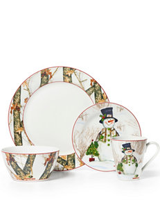 Mossy Oak Holiday 16-pc. Porcelain Dinnerware Set