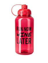 Silver One Wine Later Inspiration Water Bottle