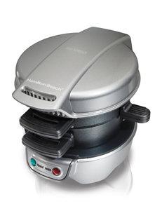 Hamilton Beach Black / Silver Electric Grills, Griddles & Waffle Makers Kitchen Appliances