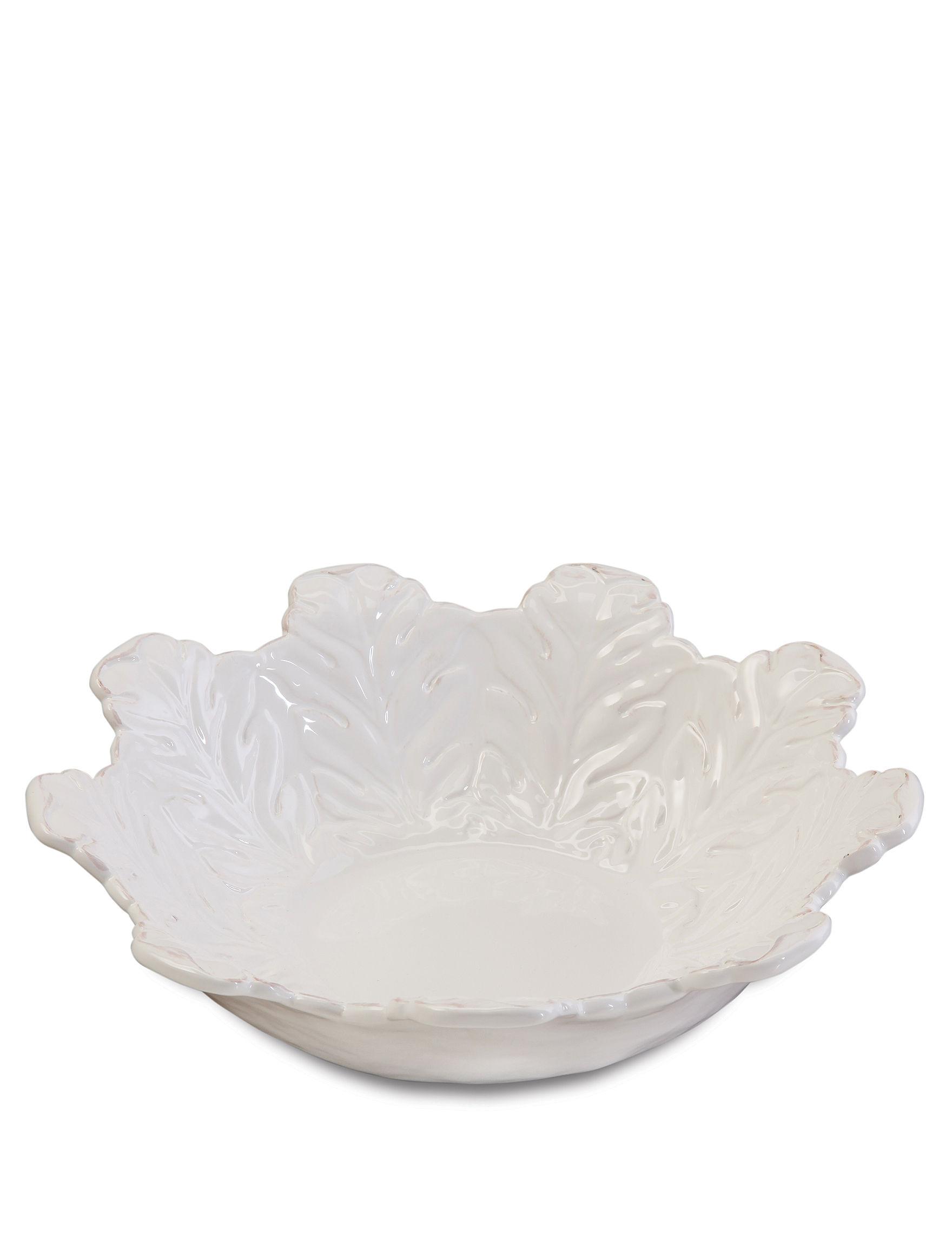 Gibson White Serving Bowls Serveware