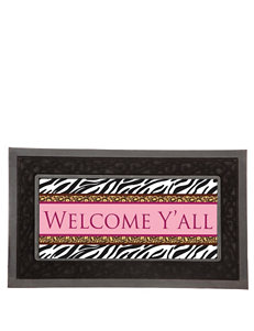 Evergreen Black Outdoor Rugs & Doormats Outdoor Decor