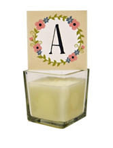 New View Vintage Candle & Monogram Letter A Candle Cover