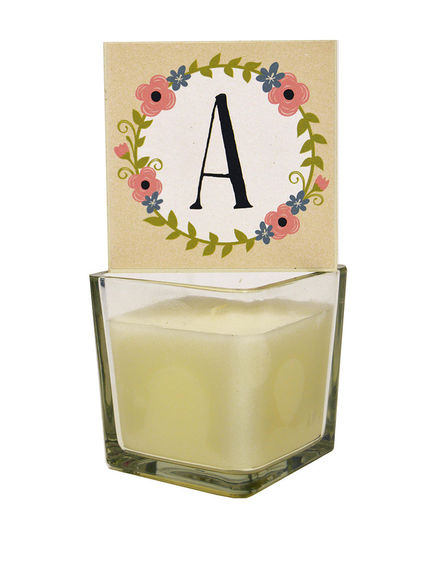 New View Ivory Candles & Candle Holders Monogram