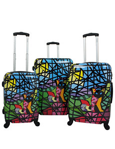 Chariot Travelware 3-pc. Hardside Glass Design Luggage Set
