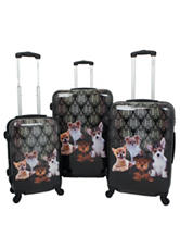Chariot Travelware 3-pc. Hardside Doggies Design Luggage Set