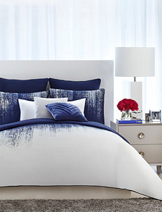 Vince Camuto Blue / White Comforters & Comforter Sets