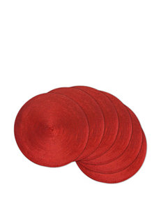 Design Imports Red Placemats Table Linens