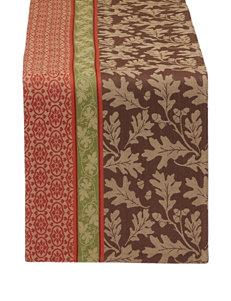 Design Imports Great Oak Striped Jacquard Table Runner