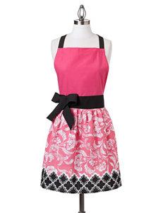 Design Imports Pink & Black Retro Print Apron