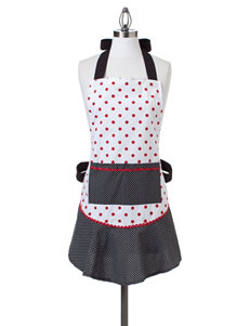 Design Imports Red & Black  Dot Retro Apron