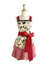 Design Imports Ruffle Rooster Print Apron