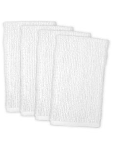 Design Imports 4-pk. Solid Color White Barmop Towel Set