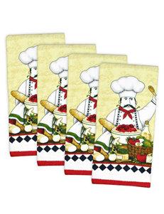 Design Imports Blue Dish Towels Kitchen Linens