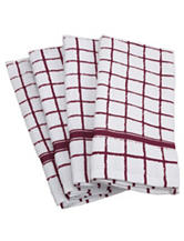 Design Imports 4-pk. Window Pane Dishtowels