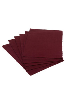 Design Imports 6-pk. Solid Color Blackberry Placemats