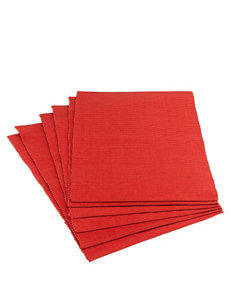 Design Imports Dark Orange Placemats Table Linens