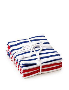Design Imports Red / White / Blue Dish Towels Kitchen Linens