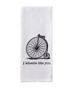 Design Imports I Wheelie Like You Dishtowel