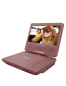 Sylvania Pink 7 Inch Portable DVD Player
