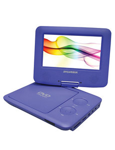 Sylvania Purple 7 Inch Swivel-Screen Portable DVD Player