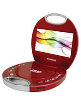 Sylvania Red 7 Inch Portable DVD Player With Integrated Handle